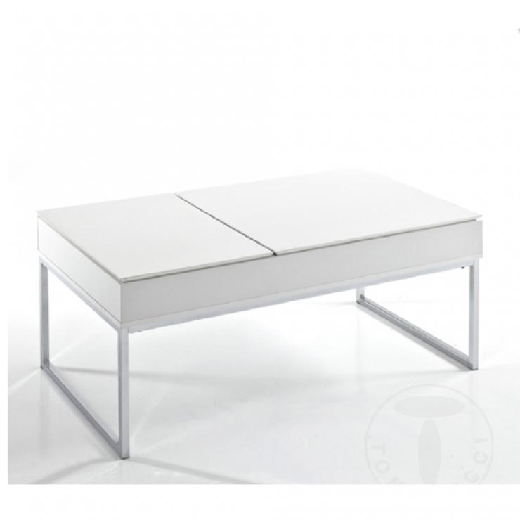 Table Basse Celinda Dessus Relevable Avec Compartiment De Rangement Tomasucci